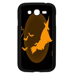 Day Hallowiin Ghost Bat Cobwebs Full Moon Spider Samsung Galaxy Grand Duos I9082 Case (black) by Mariart