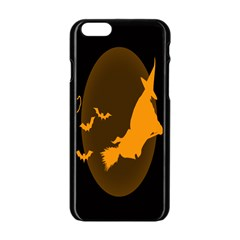 Day Hallowiin Ghost Bat Cobwebs Full Moon Spider Apple Iphone 6/6s Black Enamel Case by Mariart