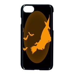 Day Hallowiin Ghost Bat Cobwebs Full Moon Spider Apple Iphone 7 Seamless Case (black) by Mariart