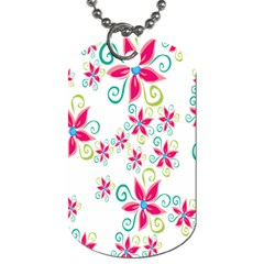 Flower Beauty Sexy Rainbow Sunflower Pink Green Blue Dog Tag (two Sides) by Mariart
