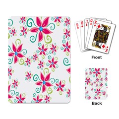 Flower Beauty Sexy Rainbow Sunflower Pink Green Blue Playing Card