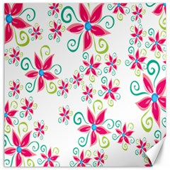 Flower Beauty Sexy Rainbow Sunflower Pink Green Blue Canvas 20  X 20   by Mariart