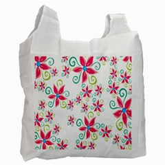 Flower Beauty Sexy Rainbow Sunflower Pink Green Blue Recycle Bag (one Side) by Mariart