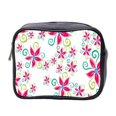 Flower Beauty Sexy Rainbow Sunflower Pink Green Blue Mini Toiletries Bag 2 Side