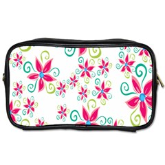 Flower Beauty Sexy Rainbow Sunflower Pink Green Blue Toiletries Bags