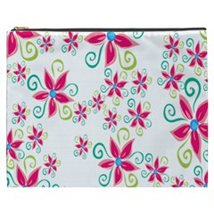 Flower Beauty Sexy Rainbow Sunflower Pink Green Blue Cosmetic Bag (xxxl)  by Mariart