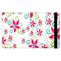 Flower Beauty Sexy Rainbow Sunflower Pink Green Blue Apple Ipad 3/4 Flip Case by Mariart