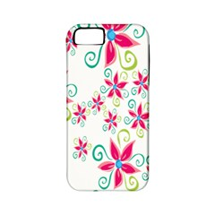 Flower Beauty Sexy Rainbow Sunflower Pink Green Blue Apple Iphone 5 Classic Hardshell Case (pc+silicone) by Mariart