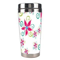 Flower Beauty Sexy Rainbow Sunflower Pink Green Blue Stainless Steel Travel Tumblers