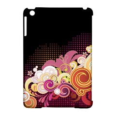Flower Back Leaf Polka Dots Black Pink Apple Ipad Mini Hardshell Case (compatible With Smart Cover) by Mariart