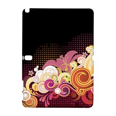 Flower Back Leaf Polka Dots Black Pink Galaxy Note 1 by Mariart