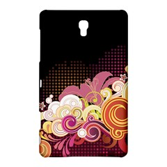 Flower Back Leaf Polka Dots Black Pink Samsung Galaxy Tab S (8 4 ) Hardshell Case  by Mariart