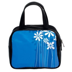 Flower Blue Classic Handbags (2 Sides) by Mariart