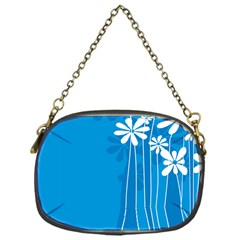Flower Blue Chain Purses (one Side)