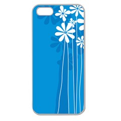 Flower Blue Apple Seamless Iphone 5 Case (clear) by Mariart