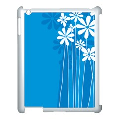 Flower Blue Apple Ipad 3/4 Case (white) by Mariart