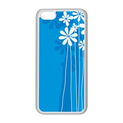Flower Blue Apple Iphone 5c Seamless Case (white) by Mariart