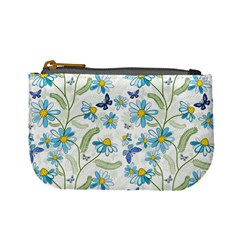 Flower Blue Butterfly Leaf Green Mini Coin Purses