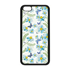 Flower Blue Butterfly Leaf Green Apple Iphone 5c Seamless Case (black) by Mariart