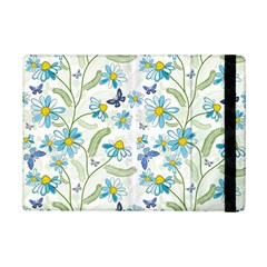 Flower Blue Butterfly Leaf Green Ipad Mini 2 Flip Cases by Mariart