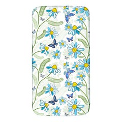 Flower Blue Butterfly Leaf Green Samsung Galaxy Mega I9200 Hardshell Back Case by Mariart
