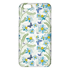 Flower Blue Butterfly Leaf Green Iphone 6 Plus/6s Plus Tpu Case by Mariart