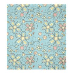 Flower Blue Butterfly Bird Yellow Floral Sexy Shower Curtain 66  X 72  (large)  by Mariart