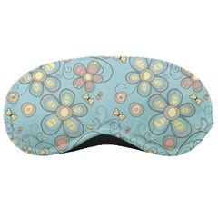Flower Blue Butterfly Bird Yellow Floral Sexy Sleeping Masks by Mariart