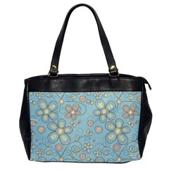 Flower Blue Butterfly Bird Yellow Floral Sexy Office Handbags by Mariart