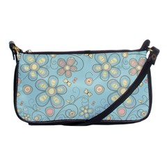 Flower Blue Butterfly Bird Yellow Floral Sexy Shoulder Clutch Bags by Mariart