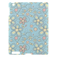 Flower Blue Butterfly Bird Yellow Floral Sexy Apple Ipad 3/4 Hardshell Case by Mariart