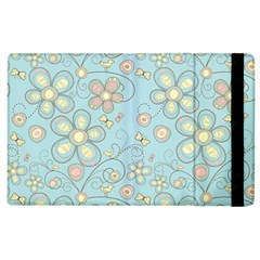 Flower Blue Butterfly Bird Yellow Floral Sexy Apple Ipad 2 Flip Case by Mariart