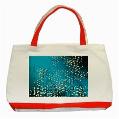 Flower Back Leaf River Blue Star Classic Tote Bag (red) by Mariart