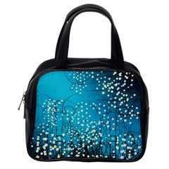 Flower Back Leaf River Blue Star Classic Handbags (one Side) by Mariart