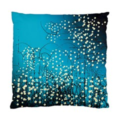 Flower Back Leaf River Blue Star Standard Cushion Case (two Sides) by Mariart