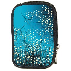 Flower Back Leaf River Blue Star Compact Camera Cases by Mariart