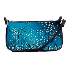 Flower Back Leaf River Blue Star Shoulder Clutch Bags by Mariart