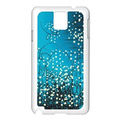 Flower Back Leaf River Blue Star Samsung Galaxy Note 3 N9005 Case (white) by Mariart