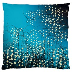 Flower Back Leaf River Blue Star Large Flano Cushion Case (two Sides) by Mariart