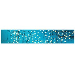 Flower Back Leaf River Blue Star Flano Scarf (large) by Mariart