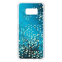 Flower Back Leaf River Blue Star Samsung Galaxy S8 Plus White Seamless Case