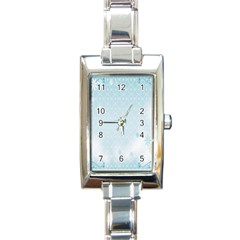 Flower Blue Polka Plaid Sexy Star Love Heart Rectangle Italian Charm Watch by Mariart