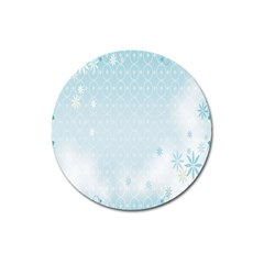 Flower Blue Polka Plaid Sexy Star Love Heart Magnet 3  (round) by Mariart