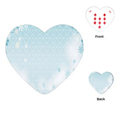 Flower Blue Polka Plaid Sexy Star Love Heart Playing Cards (heart)  by Mariart