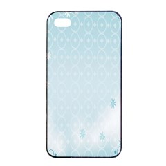 Flower Blue Polka Plaid Sexy Star Love Heart Apple Iphone 4/4s Seamless Case (black) by Mariart