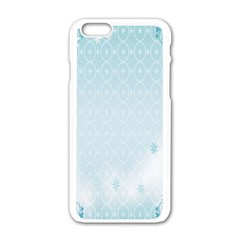 Flower Blue Polka Plaid Sexy Star Love Heart Apple Iphone 6/6s White Enamel Case by Mariart