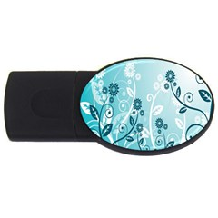 Flower Blue River Star Sunflower Usb Flash Drive Oval (4 Gb) by Mariart