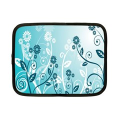 Flower Blue River Star Sunflower Netbook Case (small)  by Mariart