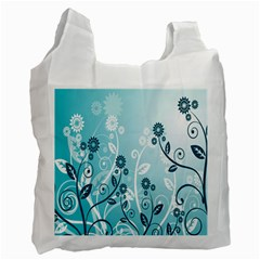Flower Blue River Star Sunflower Recycle Bag (one Side) by Mariart