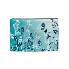 Flower Blue River Star Sunflower Cosmetic Bag (medium)  by Mariart